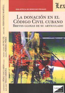 LA DONACION EN EL CODIGO CIVIL CUBANO
