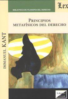 PRINCIPIOS METAFISICOS DEL DERECHO
