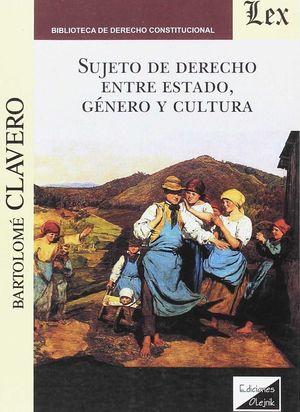 SUJETO DE DERECHO ENTRE ESTADO, GENERO Y CULTURA